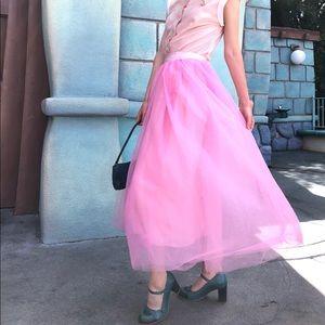 J Crew Pink Tulle Skirt